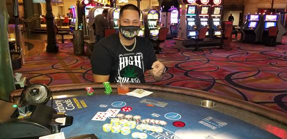 Blazing 7's Blackjack Jackpot Winner