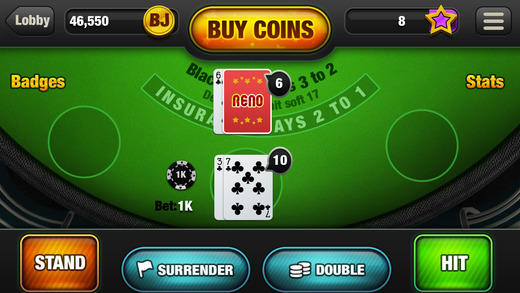 blackjack app game