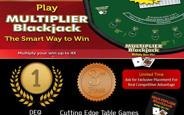 New Game: Multiplier Blackjack