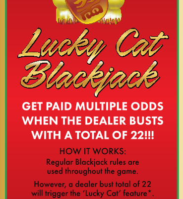 New Game: Lucky Cat Blackjack