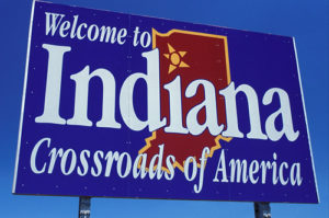 welcome sign indiana state welcome indiana crossroads america