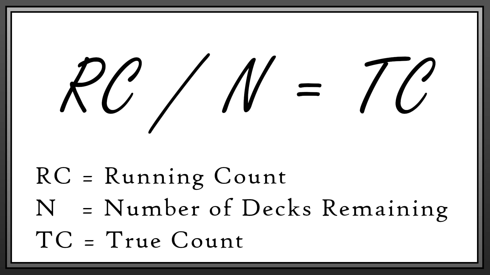 True Count v1 Card Counting